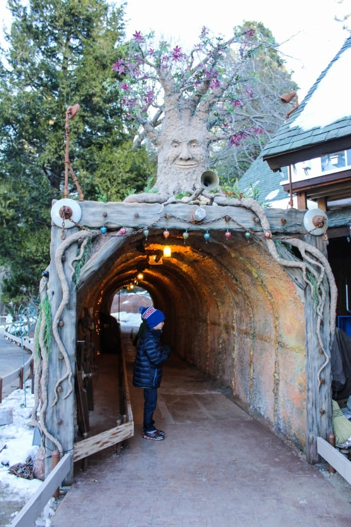 "Skypark at Santa's Village near Lake Arrowhead, California is a year round Christmas theme park for people of all ages! Savor the nostalgia of an ""Old World Christmas in the Woods"" with family and friends. They offer mining for gold, visits with Santa & Mrs. Clause, zip lining, archery, indoor and outdoor rock climbing, crafts, daily story time, train rides and more. Discount tickets to Santa's Village are also available from time to time."
