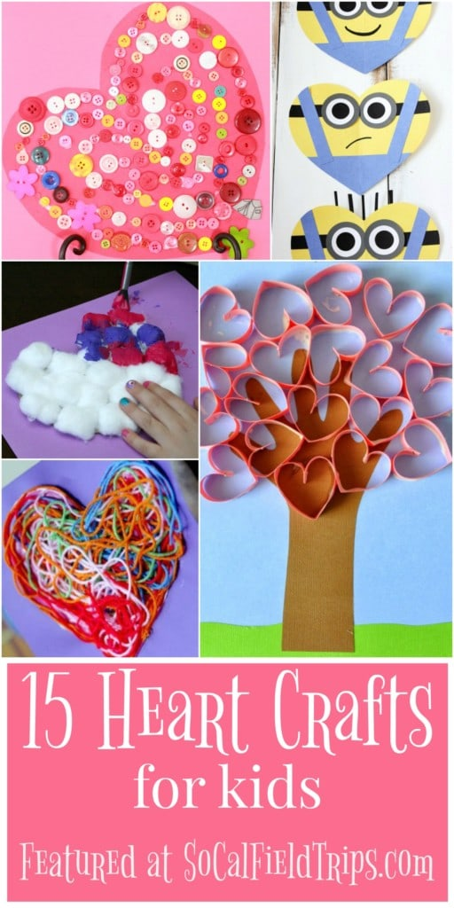15 easy heart crafts for kids socal field trips for Easy heart crafts