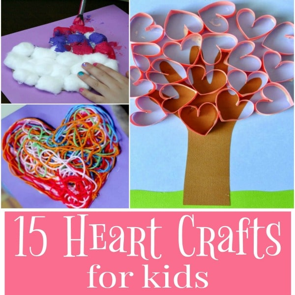 Are you looking for a cute heart craft for Valentine's day? Check out this list of 15 Easy Heart Crafts for Kids that are perfect for children of all ages, including toddlers and preschoolers.