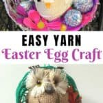 Are you looking for a fun Easter craft for your children to make? Try this Easy Yarn Easter Egg Craft For Kids made out of a simple balloon, yarn and glue!