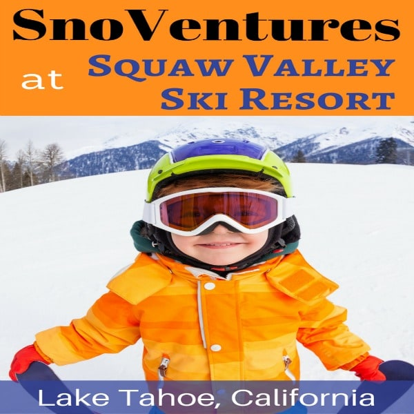 Are you planning a vacation to Lake Tahoe to go skiing? Check out SnoVentures at Squaw Valley Ski Resort! Gently sloped terrain serviced by an easy-to-ride beginner lift and two surface carpets means it's perfect for beginning skiers and snowboarders. Plus, snow tubing, mini snowmobiles, a day lodge and a free shuttle from the Village circle means it's perfect for families looking for additional activities to round out their ski vacation.