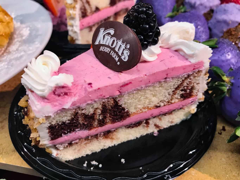 Boysenberry Cake at Knott's Boysenberry Festival