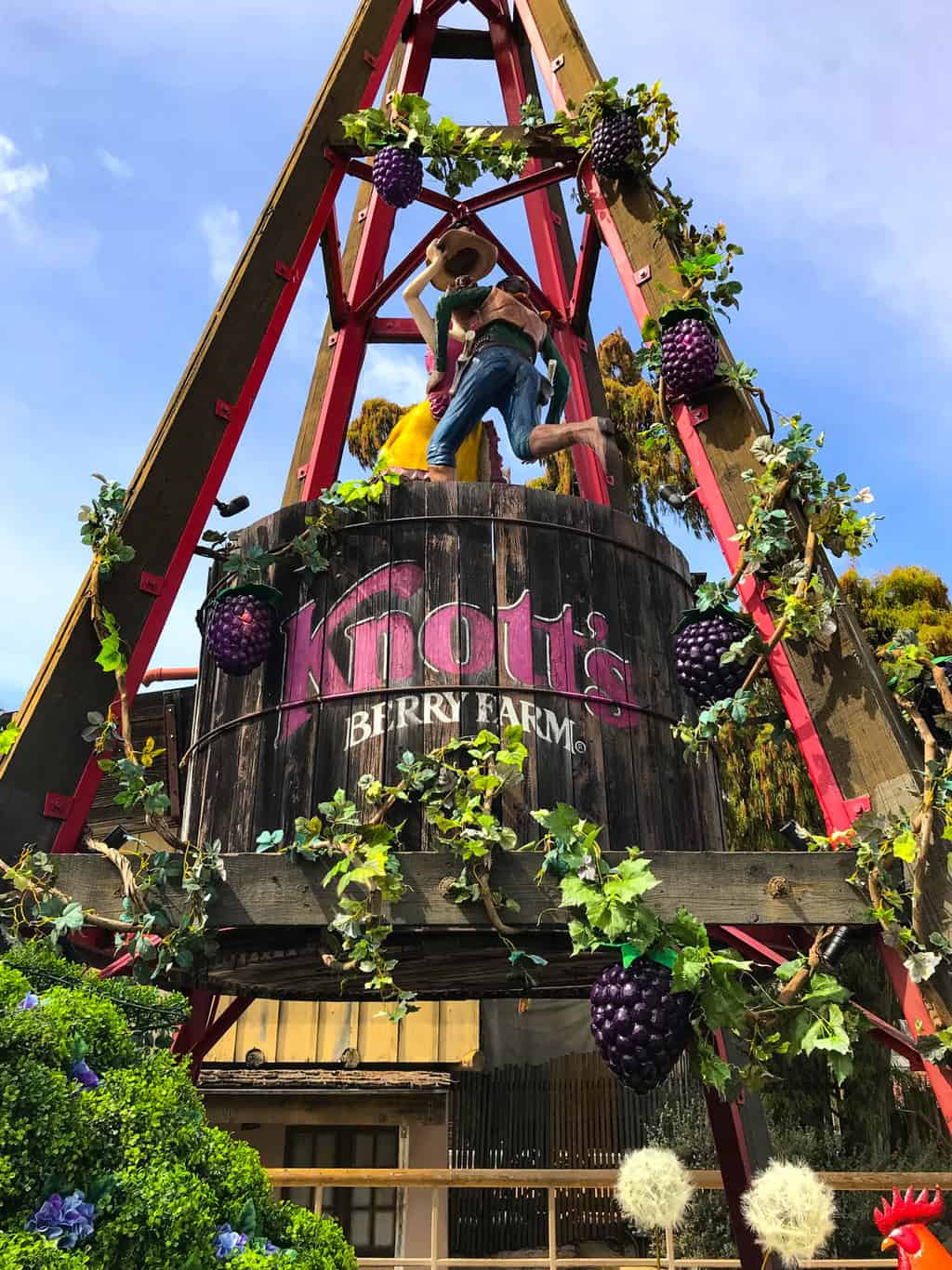Boysenberry Decorations at Knott's Boysenberry Festival