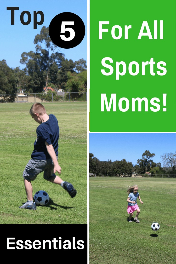 Are you wondering what to bring to the soccer field for your kids? Then check out this list of The Top 5 Essentials For The Modern Sports Mom!