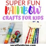Check out these 15 Super Fun Rainbow Crafts for Kids! They are perfect to make for St. Patrick's Day and as spring time activities. #stpattys #stpatricksday #stpatrickscraft #stpatricksparty #stpatrtick #kidsactivities #stem #stemactivity #kidscraft #preschoolactivity #preschoolcraft #toddlercraft