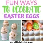 Need some Easter egg dying inspiration? Check out this list of 25 Egg-cellent Easter Egg Decorating Ideas For Families! From using crayons to tinsel to yarn, there's a method for all ages to enjoy and little hands to make. Click here to see the full list. #easter #easterbunny #easter #easteregg #easterparty #easteractivities #easterdecorations #easterdecorating #holidayideas #springdecor #springparty #springactivities