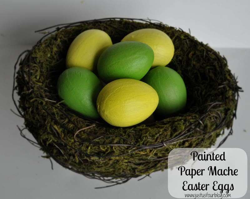 paper mache easter eggs