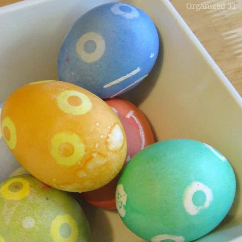 easy dyed easter eggs