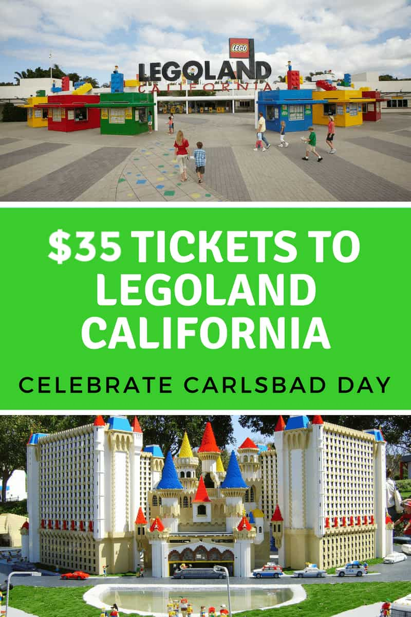 Are you planning a visit to LEGOLAND California? Get $35 Tickets to LEGOLAND California on March 2, 2019 in honor of Celebrate Carlsbad Day!