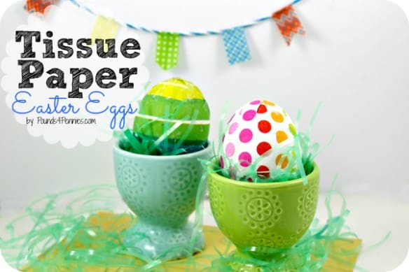 decorate eggs with tissue paper