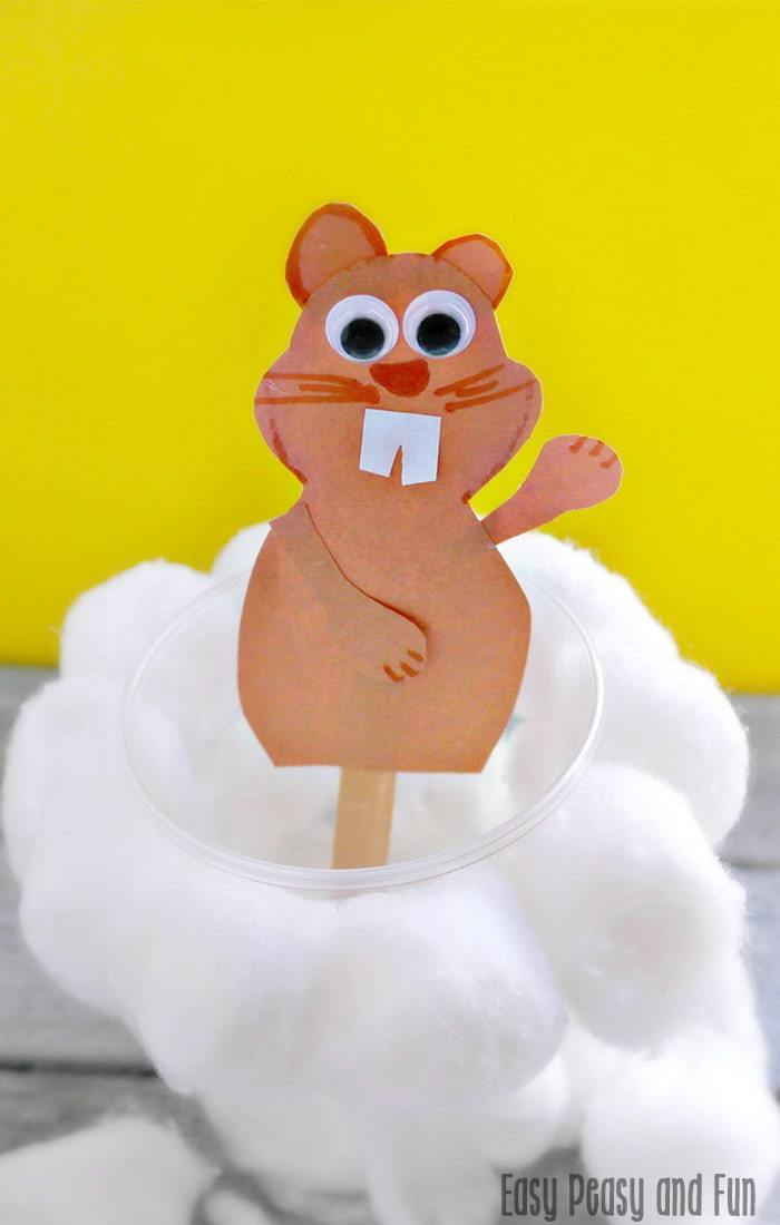 Cuter groundhog day craft for preschool