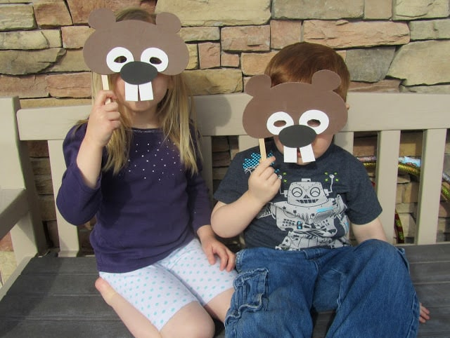 Groundhog Masks - Pinning with a Purpose  Become a groundhog yourself and predict when spring will come with this fun mask craft!
