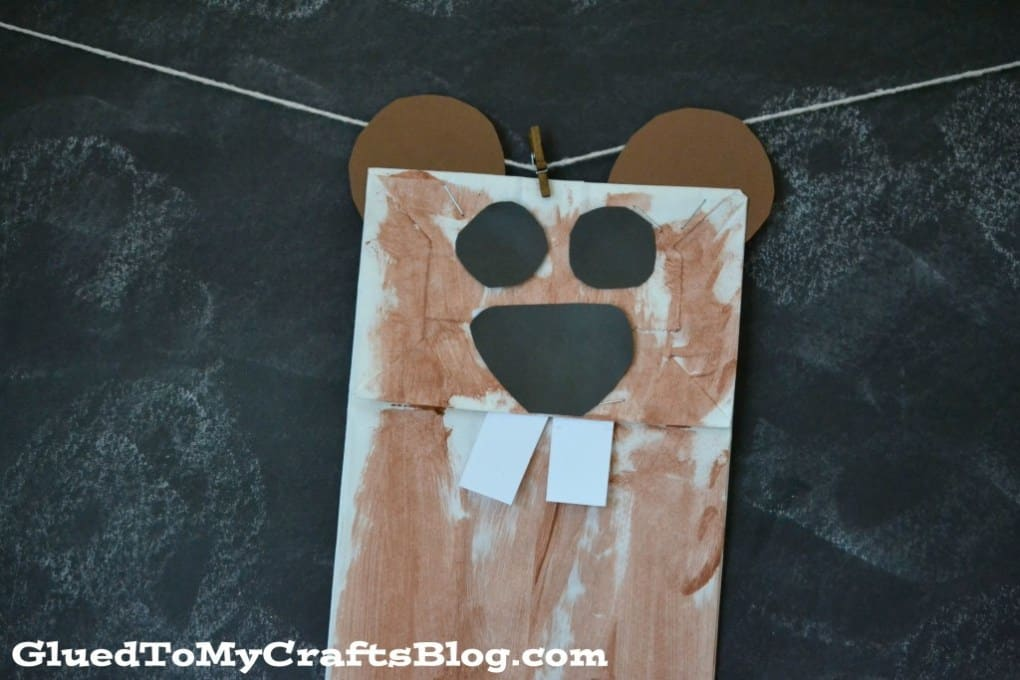 Groundhog Day Paper Bag Craft For Kids