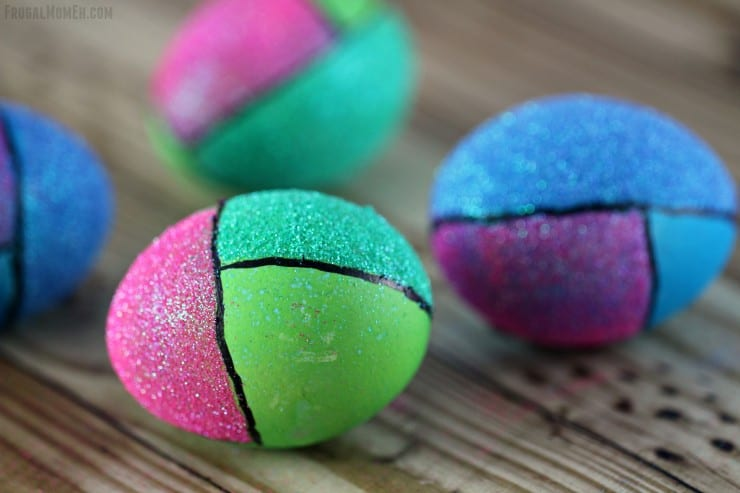 color block easter eggs