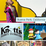 Are you a Snoopy fan? Attend the annual Knott's Peanuts Celebration every winter in Buena Park, California! From Snoopy inspired treats to live entertainment to meeting Pig Pen in the Livery Stable, there is something for every Snoopy fan.
