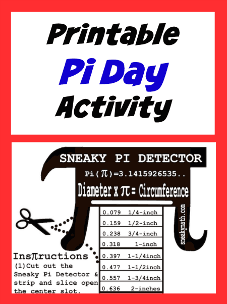Pi day printable