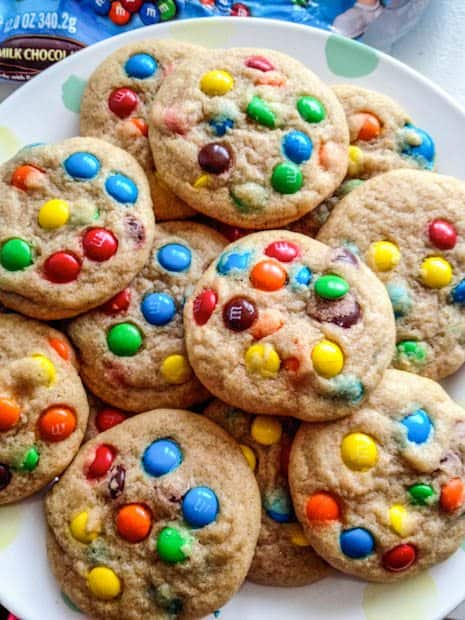 Easy Rainbow M&M Cookies Recipe