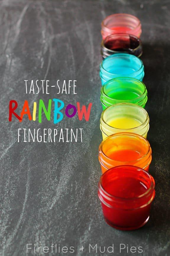 Taste-safe fingerpaint