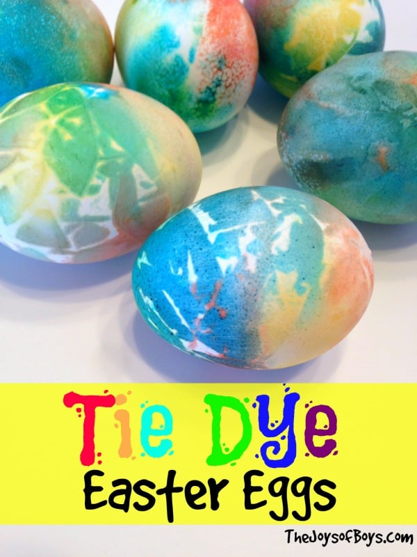 tye dye egg decoration