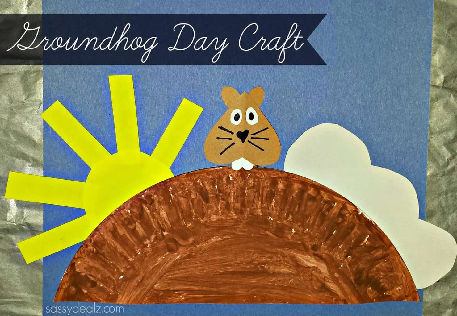 Paper plate Groundhog Day Preschool Craft