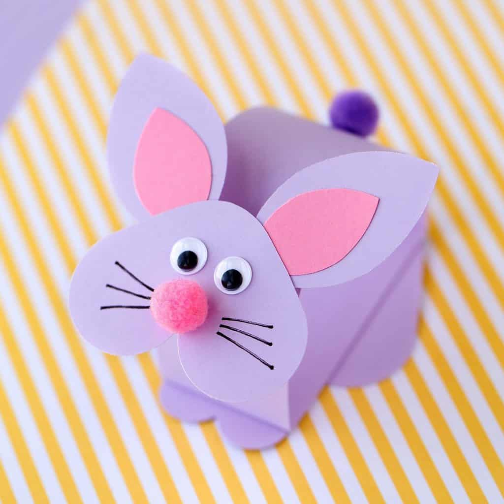 Purple easter bunny craft for kids