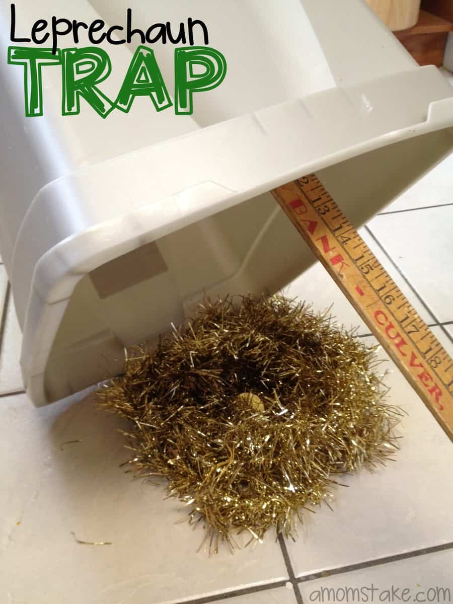 easy leprechaun trap with household supplies