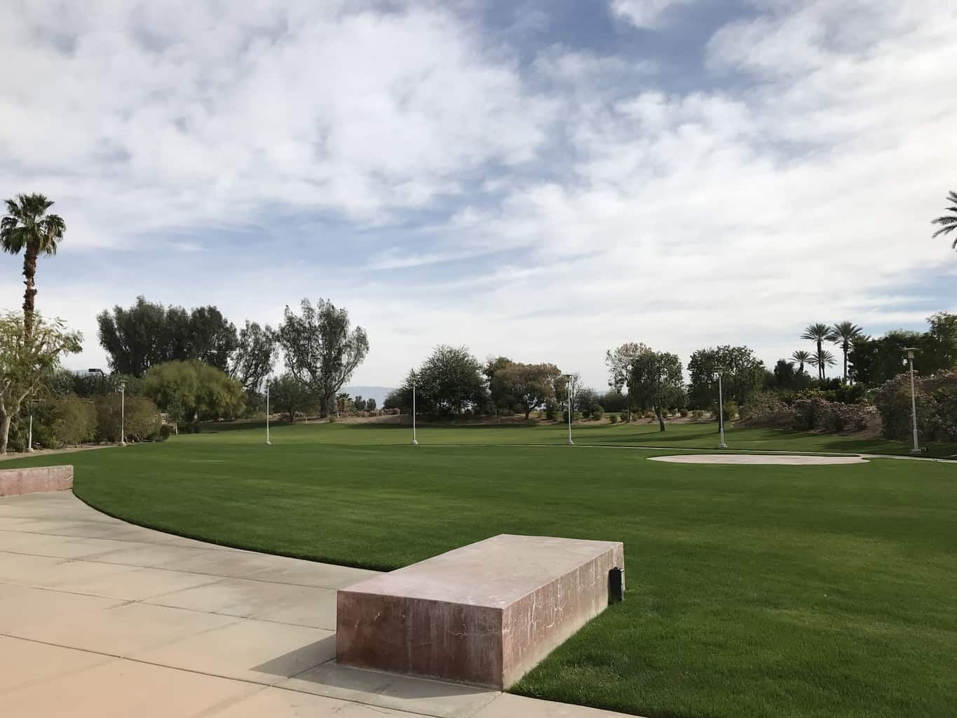 Outdoor lawn area at the Renaissance Indian Wells Resort & Spa