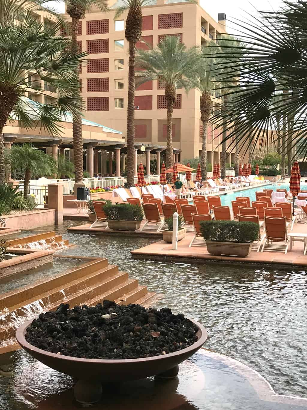 Outdoor fire pit at the Renaissance Indian Wells Resort and Spa in Indian Wells