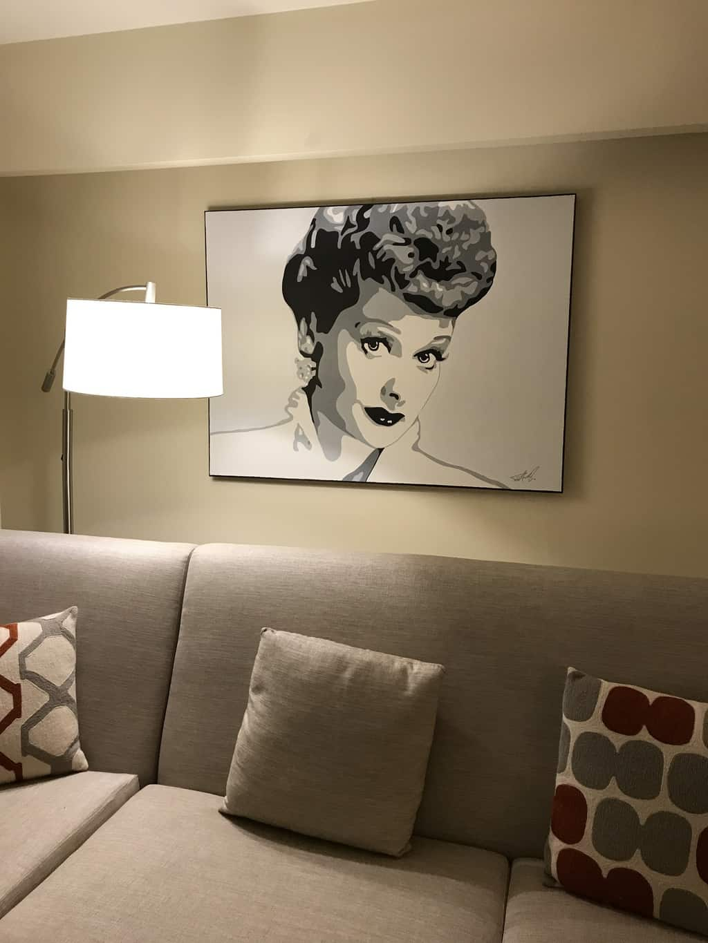 A picture of Lucille Ball at the Renaissance Indian Wells Resort & Spa in Palm Springs.