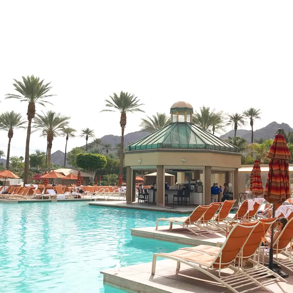Outdoor pool at the Renaissance Indian Wells & Resort in Palm Springs