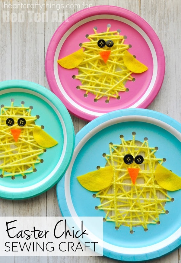 easter baby chick sewing craft for kids