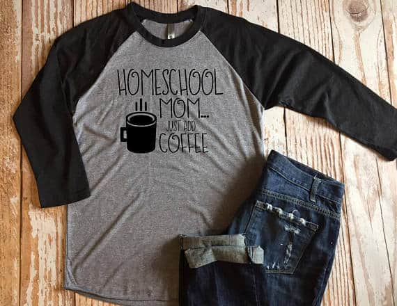 Homeschool Mom and Coffee Tshirt