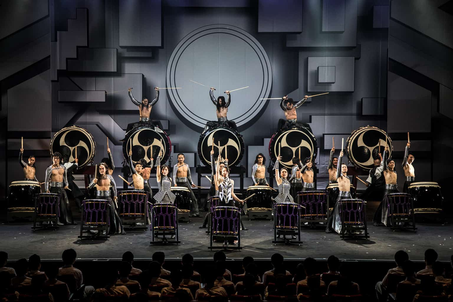 DRUM TAO is known for combining music and dance to reflect Japanese tradition while incorporating other Asian cultural influences.  Breaking past the traditional notions of taiko, DRUM TAO continues to create an entirely new art form that is modern yet retains sense of tradition.