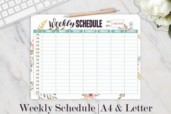Weekly homeschool calendar for homeschool moms