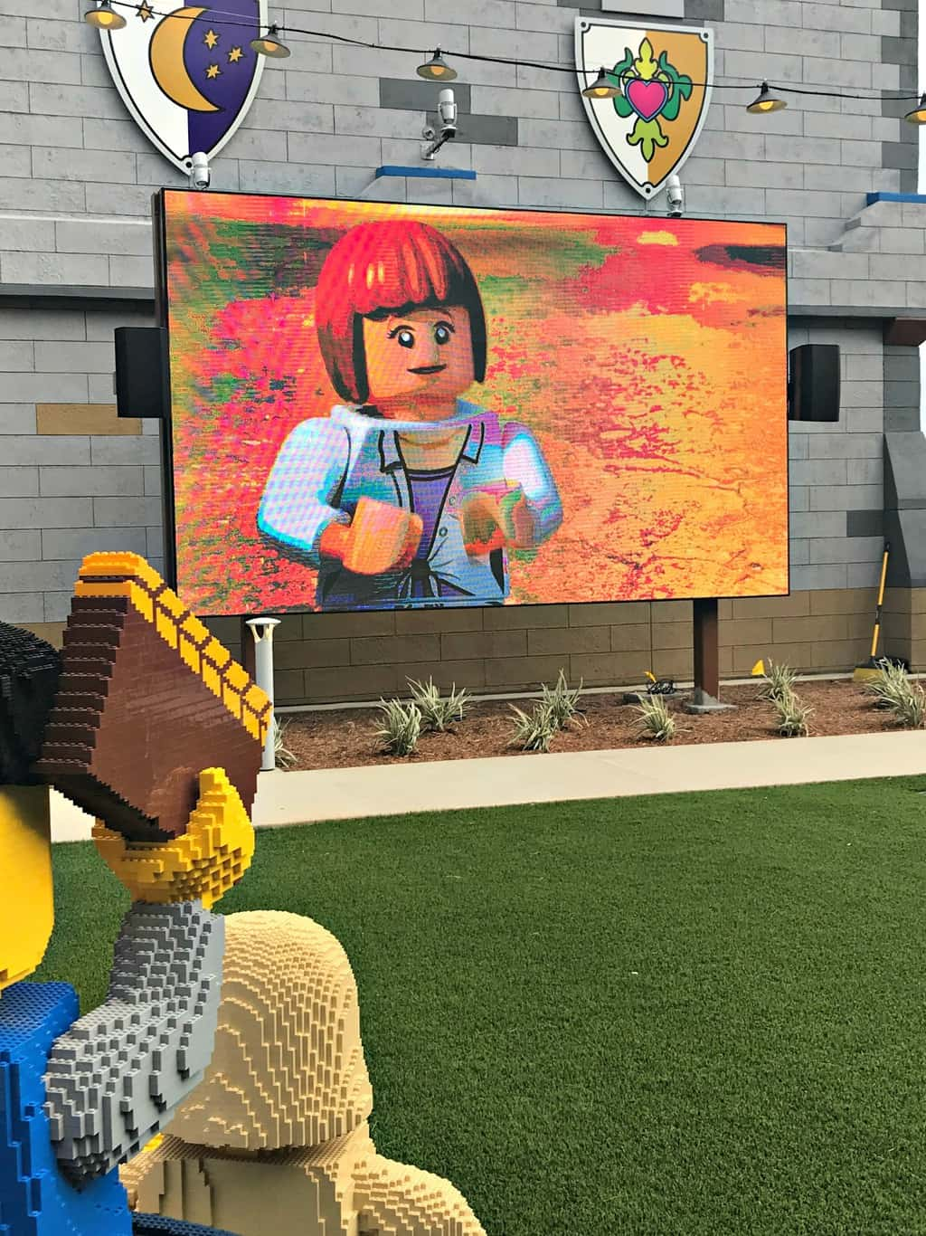 Outdoor movies Legoland Castle Hotel San Diego