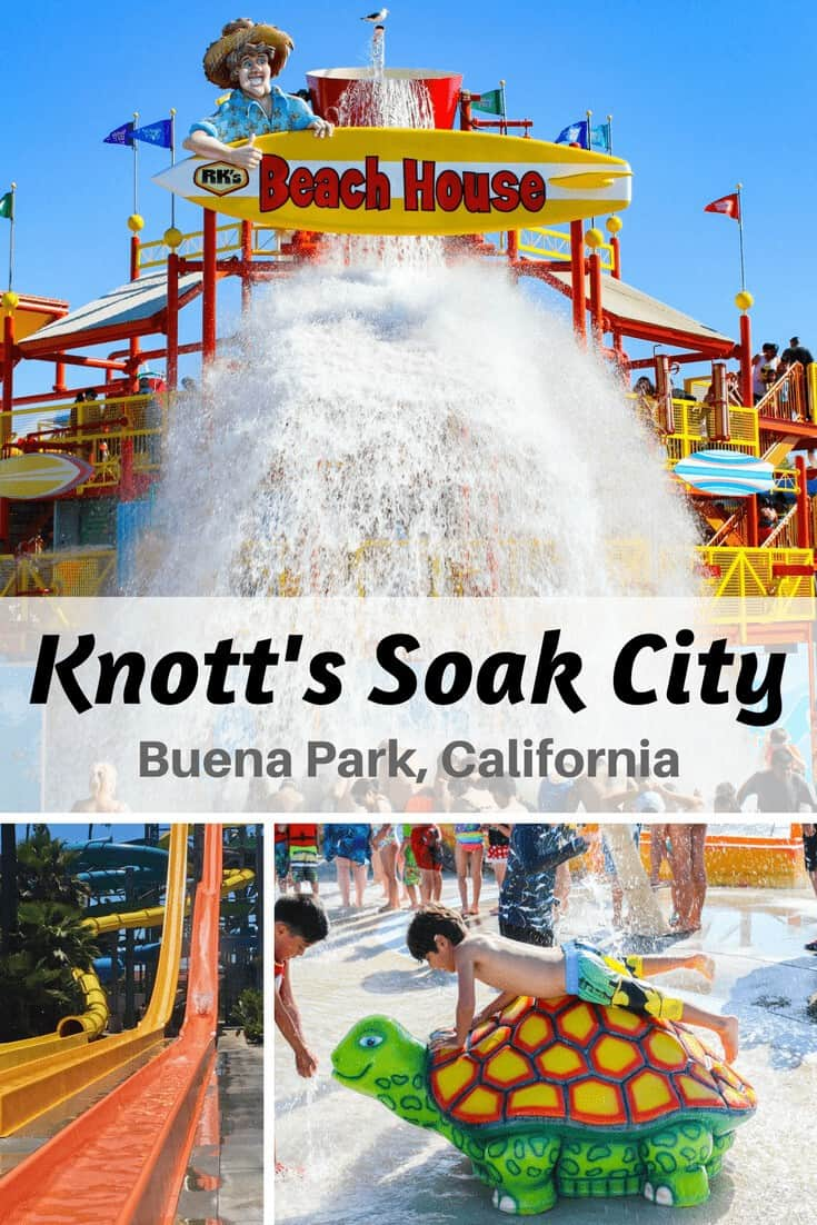 Visit the newly updated Knott's Soak City in Buena Park, California! The entire waterpark has been beautifully remodeled to include 7 new waterslides, an expanded food area and much more needed shade. It is the perfect place to spend the summer relaxing outdoors with your family! You can get discount tickets to Knott's Soak City right here. #knottssoakcity #berrybloggers #travel #travelblogger #summertravel #california