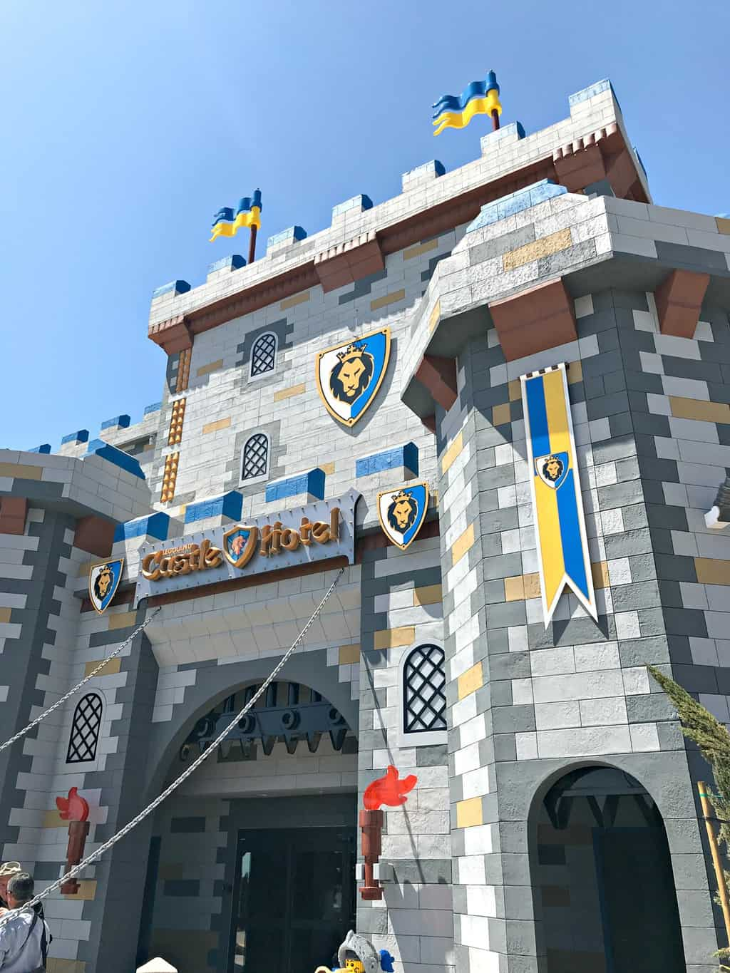 Outside view of the LEGOLAND Castle Hotel