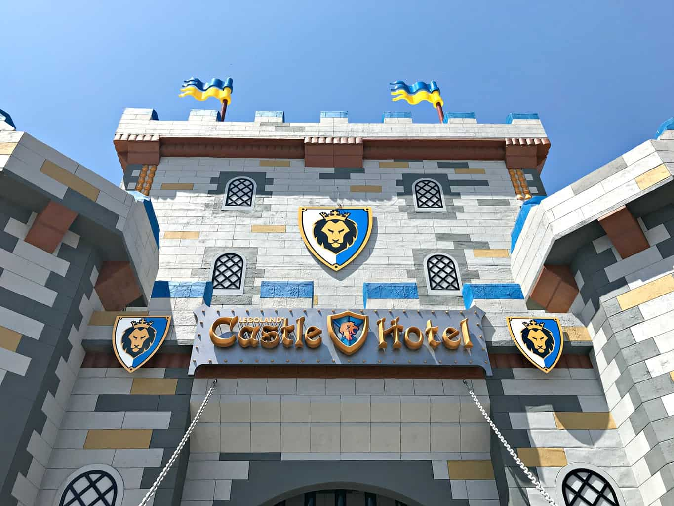 Hotel entrance to the Legoland Castle Hotel Carlsbad