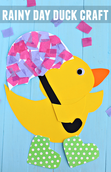 Easy yellow duck craft made out of paper