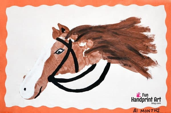 Easy horse handprint craft for preschool