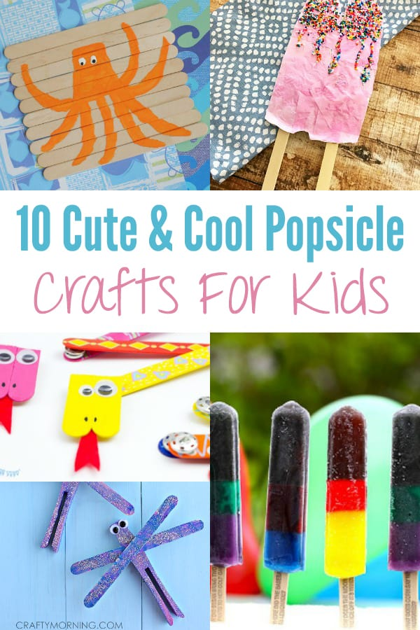 A variety of easy popsicle crafts for kids