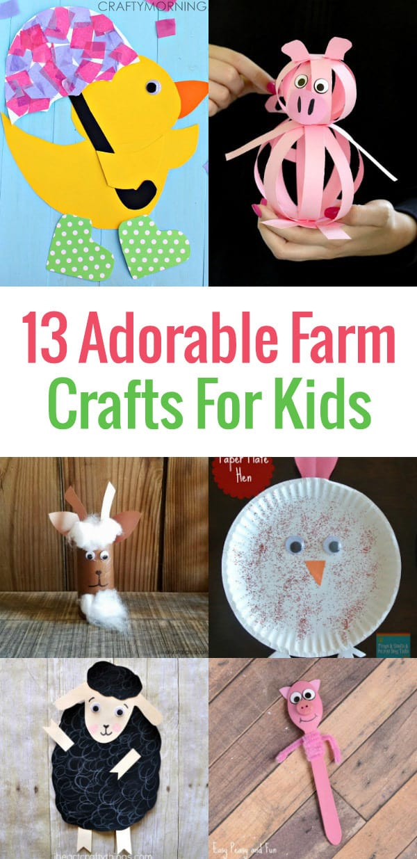 Are you teaching a unit about life on the farm or hosting a farm themed birthday party for your little one? Then check out these 13 Adorable Farm Crafts for Kids ideal for preschool - early elementary age kids.