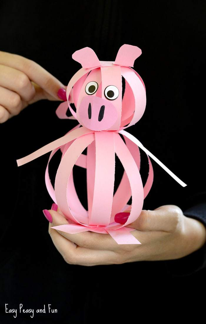 easy paper pig craft for kids
