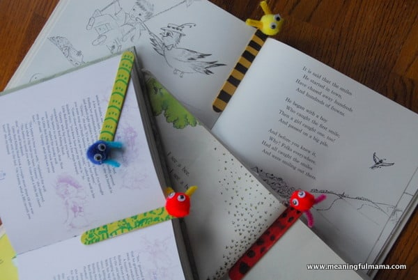 cute popsicle stick bookmark craft for kids