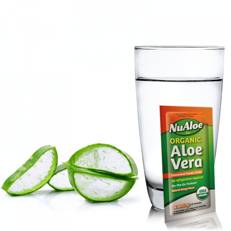 Have you tried aloe juice before? NuAloe Organic Aloe Vera offers all of the health benefits of aloe, plus the portability and convenience of individual granulated packets.