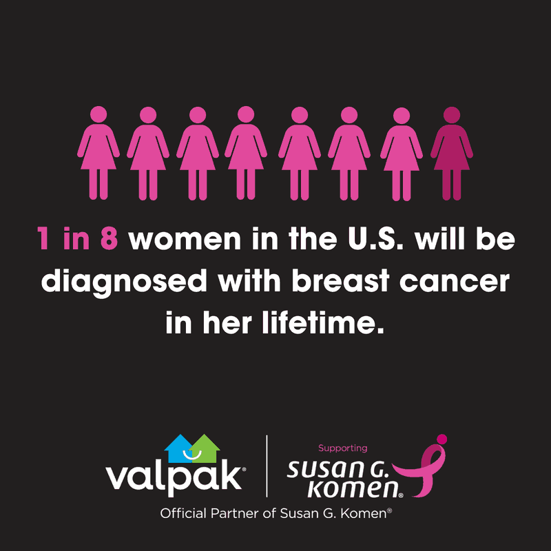 Sign up to join the Valpak Team for the 2018 Susan G. Komen Orange County Race for the Cure on Sunday, Sept. 23 in Newport Beach.