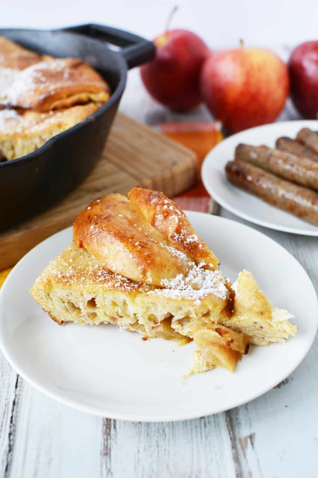 Easy Baked Apple Cinnamon Skillet French Toast Recipe
