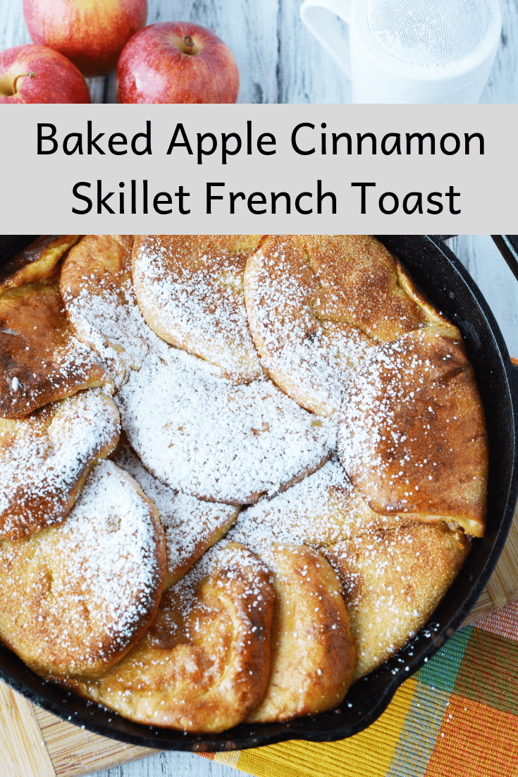If the thought of bran flakes and low fat milk isn't getting you out of bed in the morning, then check out this delicious Baked Apple Cinnamon Skillet French Toast. It's similar to making traditional french toast, but with an apple cinnamon twist. You can also make it ahead of time and heat it up in the morning.