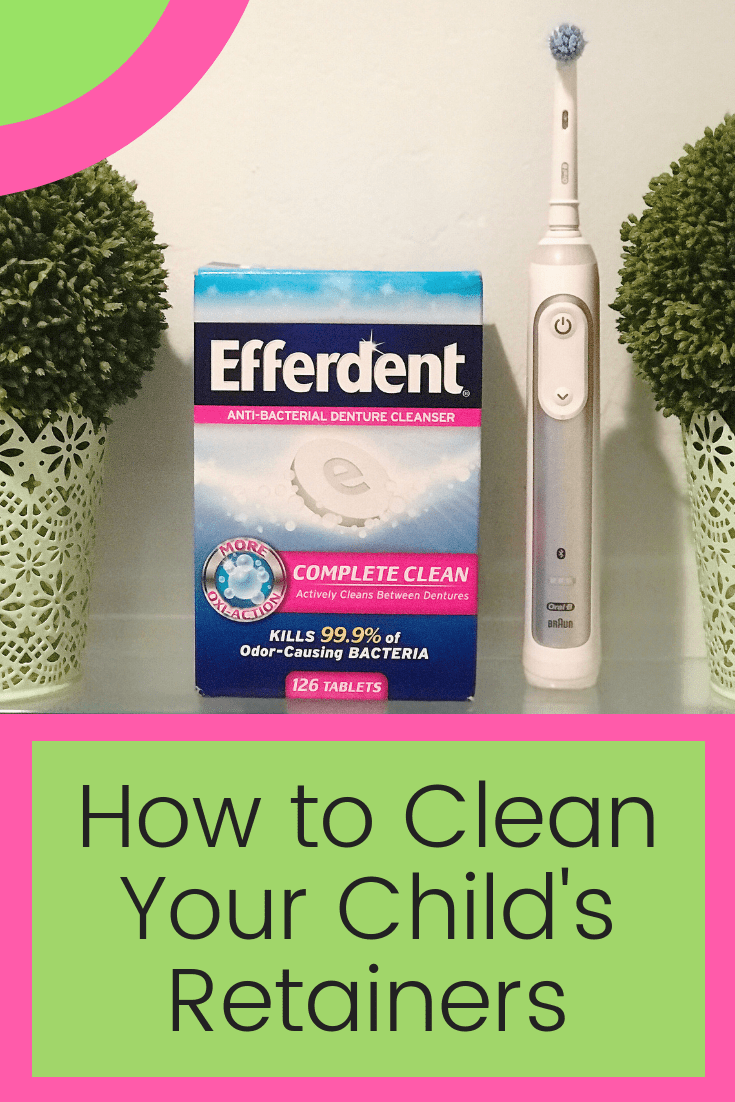 Learn how to clean your child's retainers with this one creative tip!