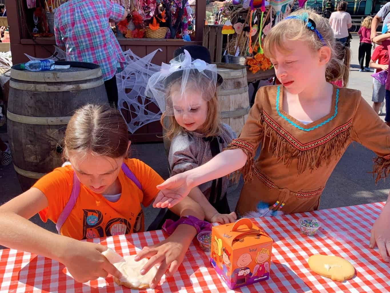 Kids at Knott's Spooky Farm in Buena Park